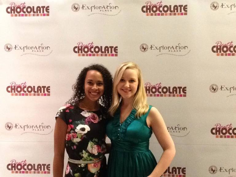 Nanette and I at Death By Chocolate Exploration Place