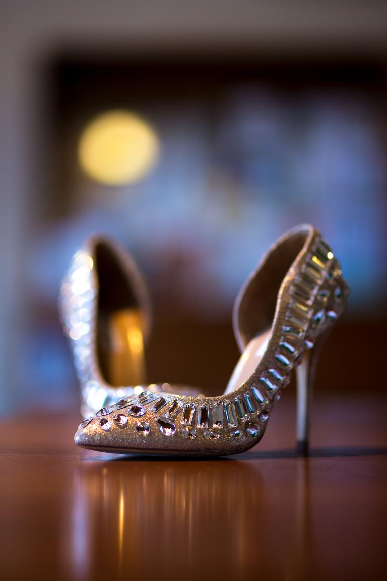 photo of shoes at a wichita wedding
