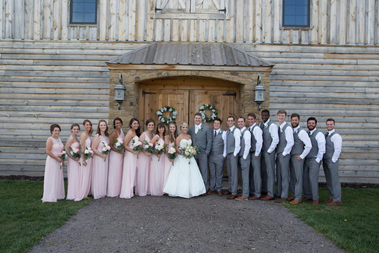 Wedding Party at Stone Hill Barn