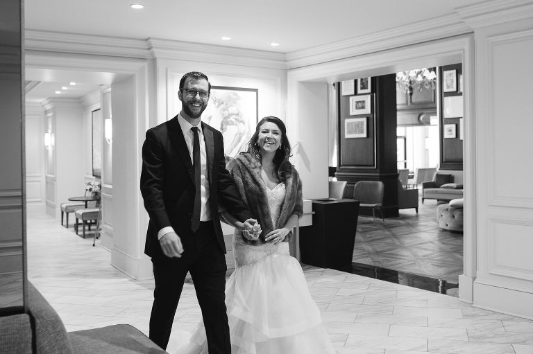 Bride and Groom at the Intercontinental Hotel Kansas City Plaza